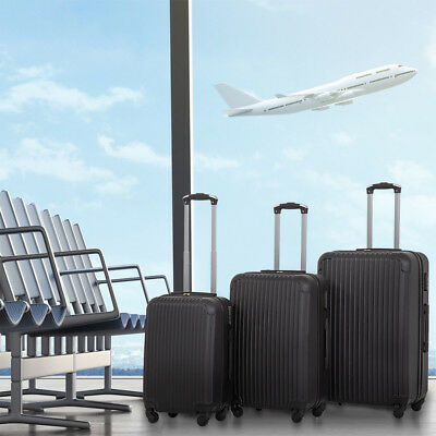 - New 3 Pcs Luggage Travel Set Bag ABS Trolley Suitcase 4 Color 348