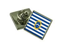 Sao Jose dos Pinhais City South Region Flag Cufflinks Engraved Tie Clip Set