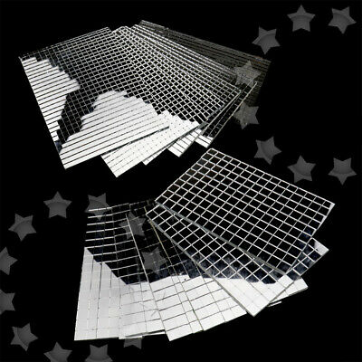 600 Small Silver Self-Adhesive Mirror Mosaic Tiles Mirror Tiling Party DIY Decor