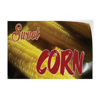 Sweet Corn 1 Indoor Store Sign Vinyl Decal Sticker
