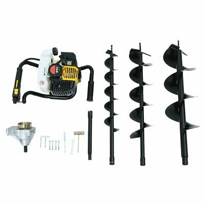 52cc 3hp Gas Powered Post Hole Digger W 4 6 8 Earth Auger Digging Engine