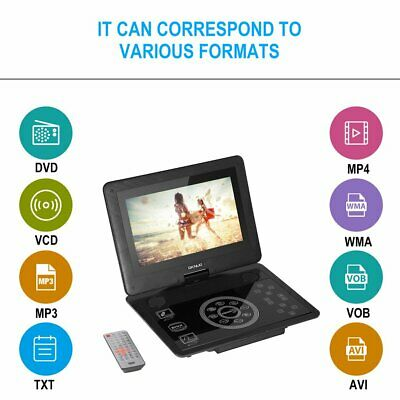 "10,1"" Tragbarer Auto DVD Player USB Portable analog TV LCD Display CD Game SD DY"