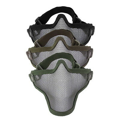 Mesh Maske (Steel Mesh Half Face Mask Guard Protect For Paintball Airsoft Game Hunting OK)