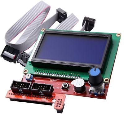 Ramps 1.4 Reprap Mendel 12864 Display Lcd 3d Printer Controller Adapter Sd