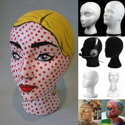 Female Styrofoam Mannequin Manikin Head Model Foam Wig Hair Glasses Display