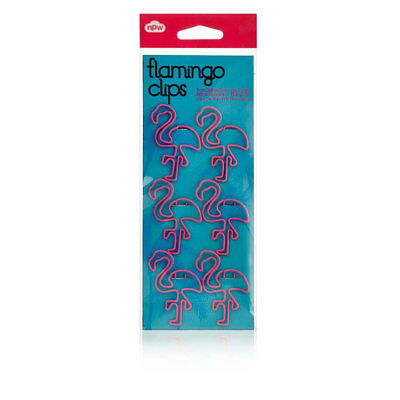 Npw-usa Flamingo Shape Paper Clips Set Of 6