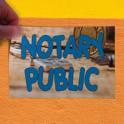 Decal Sticker Notary Public 1 Business Notary Public Outdoor Store Sign Blue