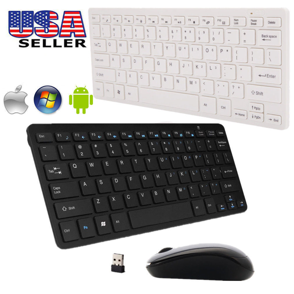 for HP 2.4GHz Wireless USB Keyboard and Mouse Black/white US