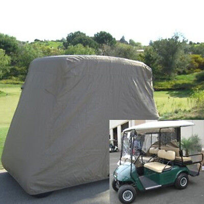 4 Passengers Golf Cart Storage Cover For EZ Go Club Car Taupe Waterproof