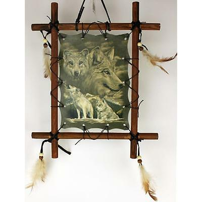 11 in x 9 Framed Indian Picture - Wolves, MPN: FIB1111