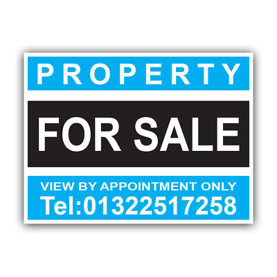 Property FLAT For Sale Sign Boards Personalised Correx Estate Agent Signs x2 37