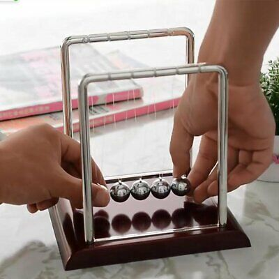 Newtons Cradle Steel Balance Balls Desk Physics Science Pendulum Desk Toy 8j