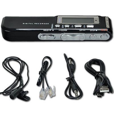 8GB Best Voice Activated Mini Clip USB Spy Pen Digital Audio Voice Recorder MLu