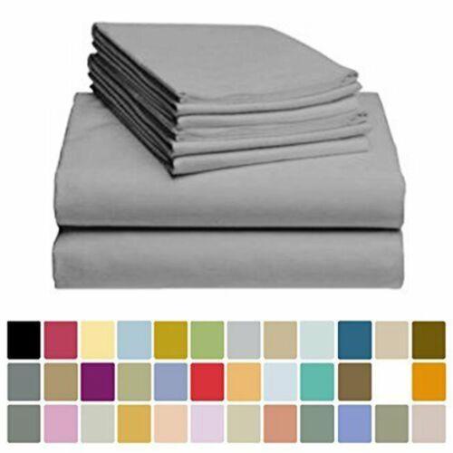 Egyptian Soft Bed Sheet Set Luxury Hotel Deep Pocket Sheets
