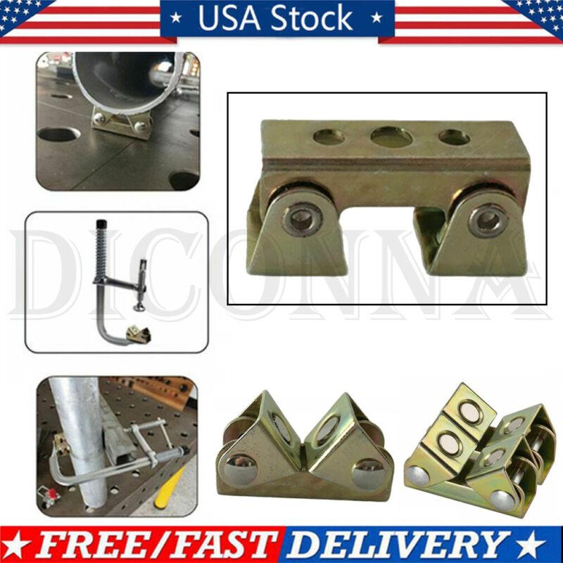 V Type Magnetic Welding Holder Clamps Suspender Fixture V Pads Adjustable - US