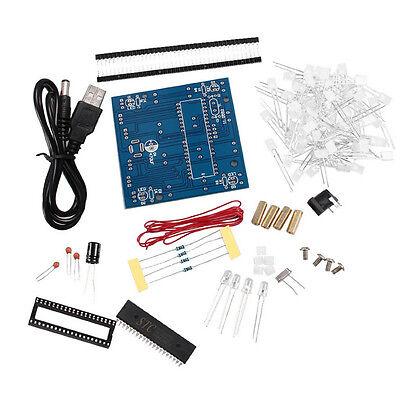 New 4*4*4 3D LED Light Squared Blue Red Ray LED Cube DIY PCB Board Kit Set HL