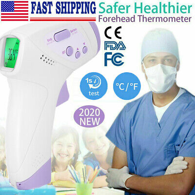 Infrared Digital Forehead Thermometer No-Contact Baby Adult Temperature Gun CE