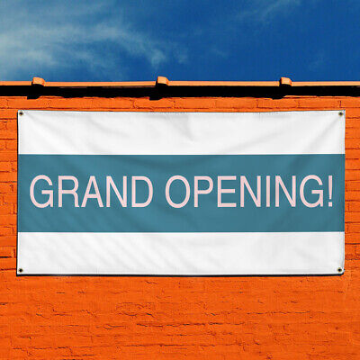 Vinyl Banner Sign Grand Opening 3 Business Marketing Advertising White