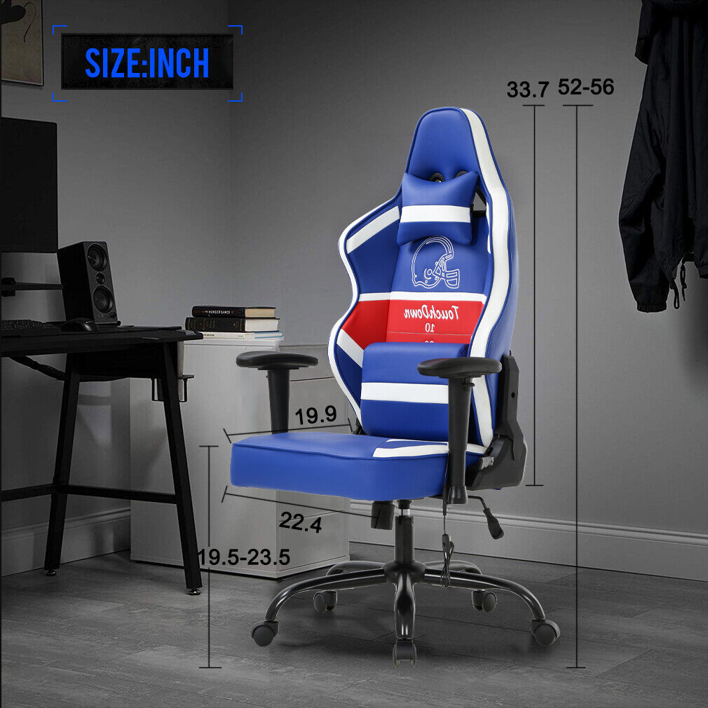 Gaming Chair Big and Tall Office Chair 500lb w/ Lumbar Support Headrest 2D Arms Chairs