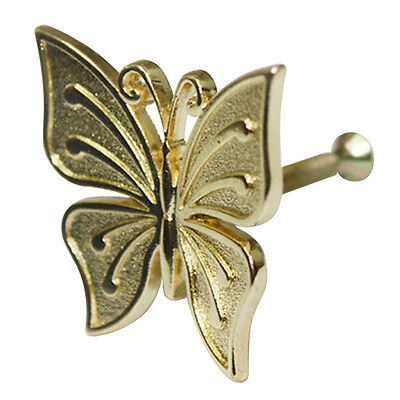 Gold Solid Metal Butterfly Decorative Knob Cabinet Drawer Pull Handle HHY-303