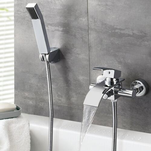 Dusch Set Badewannenarmatur Wasserfall Wasserhahn Wannenarmatur mit Handbrasue