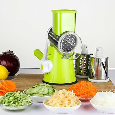 Mandoline Cutter (Vegetable Cutter Manual Round Mandoline Slicer Potato Julienne Cheese Grater MU)