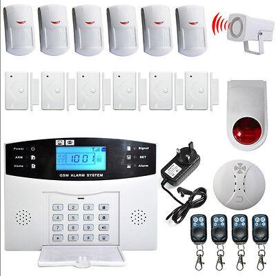 HOMSECUR Funk GSM Alarmanlage+Türsensor +Funk Signaltransmitter + Fernbedienung