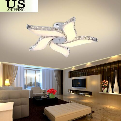 online store 6aa65 b99ac Details about Modern Crystal Flower Chandelier LED Pendant Lamp Ceiling  Dining room Fixtures