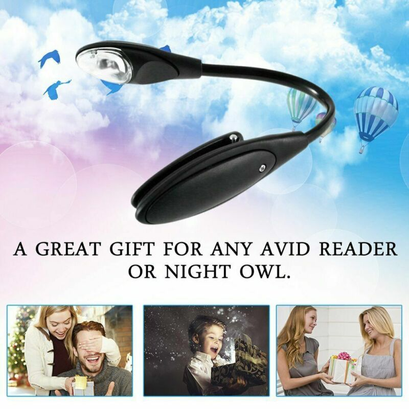 Mini LED Flexible Clip On Book Reading Bright Light Lamp Torch Kindle Laptop