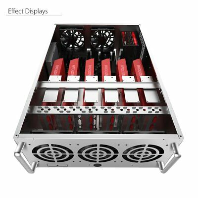 Crypto Coin Open Air Mining Frame Rig Graphic Case For 8 GPU BTC Ethereum GE