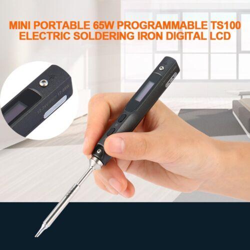 Mini Portable 65W programmierbare TS100 elektrische Lötkolben digitale LCD CY