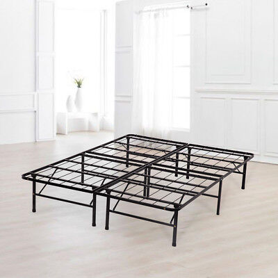 Platform Bed Frame Queen Box Spring Mattress Foundation Metal Heavy Duty