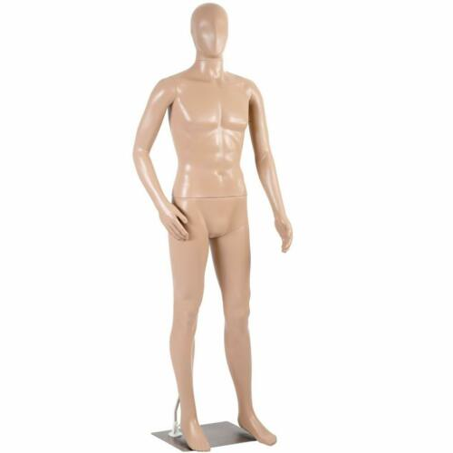 Male Full Body Realistic Mannequin Display Head Turns Dress Form w/Base M97