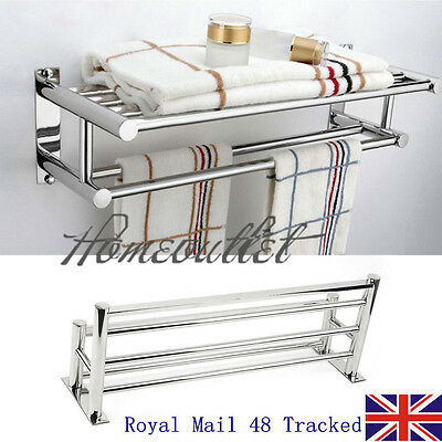 Innovative Bathroom Telescopic Rail Storage Shelf Caddy Shelving Rack Unit Chrome