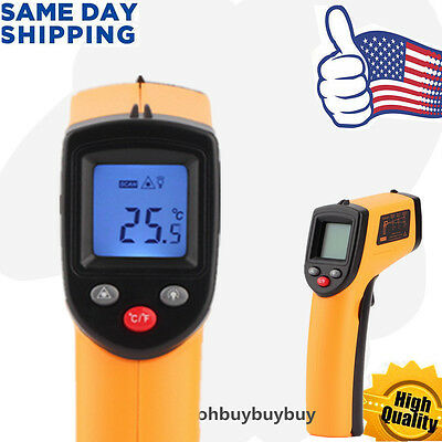 Handheld Non-contact Digital Thermometer Ir Laser Temperature Gun Infrared Se