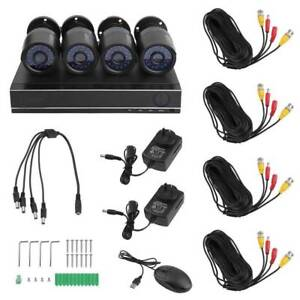 NEW CCTV SECURITY CAMERA KIT-4 CAMERAS-4CH DVR WITH HARD DRIVE