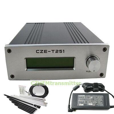 CZE-T251 0-25W 20w 25w  FM stereo broadcast transmitter+1/4 GP antenna kit
