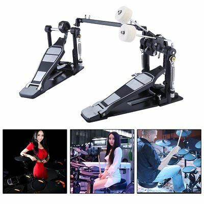 Drum Pedal Double Bass Pedal Foot kick Drum Set Percussion Single Chain Drive HM