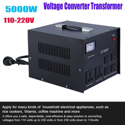 5000 Watt Heavy Duty Voltage Regulator Converter Transformer Step Up/Down 5000W