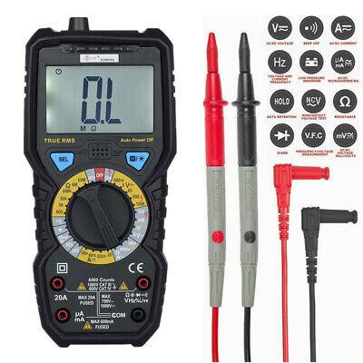 Digital Clamp Meter Multimeter Handheld Rms Acdc Mini Resistance Value Test Wa