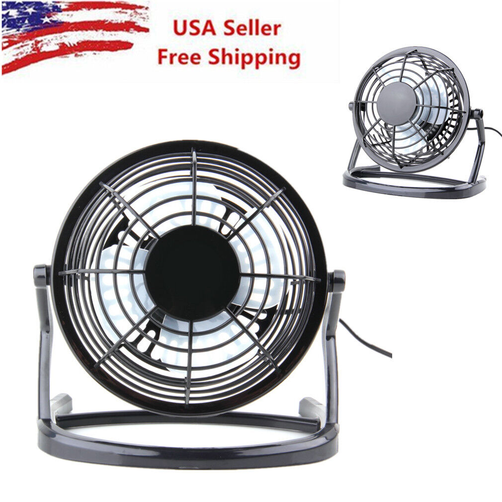Home Appliances Small Mini Portable Colorful Metal Usb Cooling Table Desk Air Fan Computer Laptop Fan Aluminium Blade Mute Quiet And Durable