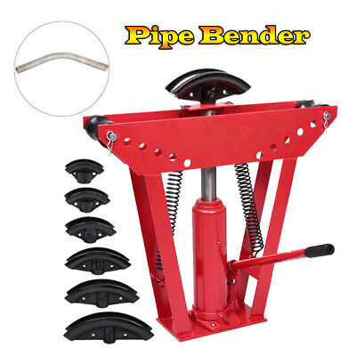 12 Ton Manual Hydraulic Pipe Bender Bending Tubing Exhaust Tools With 6 Dies New