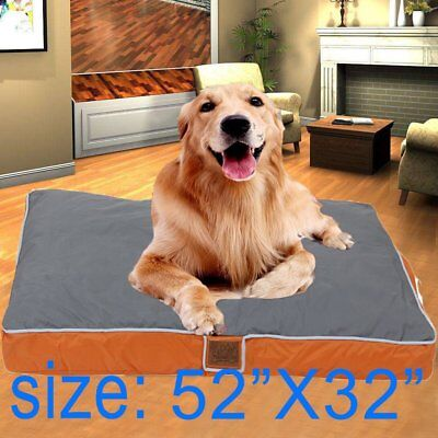 """Dog Bed With Removable Cover Large Orthopedic  52"""" X 32"""" X 4"""" USA BTT"""