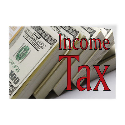 Income Tax 1 Indoor Store Sign Vinyl Decal Sticker