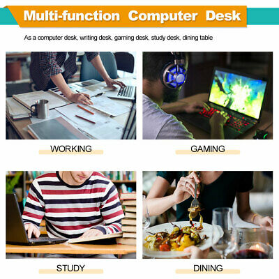 Computer Desk Home Office Desk 40 inches Gaming Desk Multi-Function Table Furniture