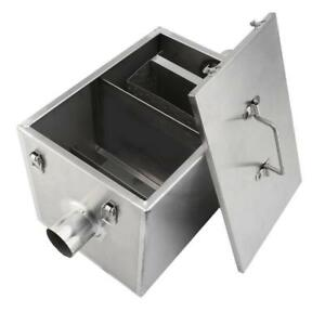 Grease Trap Commercial 5GPM Gallons Per Minute - Stainless Steel Interceptor- Brand new - FREE SHIPPING