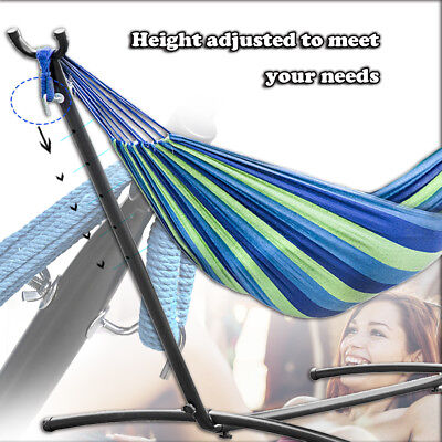 Hammock Stand With Space Saving Steel Stand Includes Carrying Case Blue TM32 Hammocks