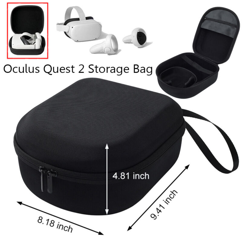For Oculus Quest 2 VR Travel Carry Case VR Headset Box Storage Controller US