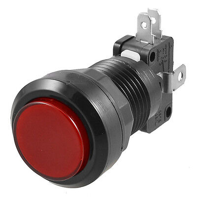 Arcade Game Ac 250v 15a 24mm Dia Red Light Push Buttonmicro Switch Dt