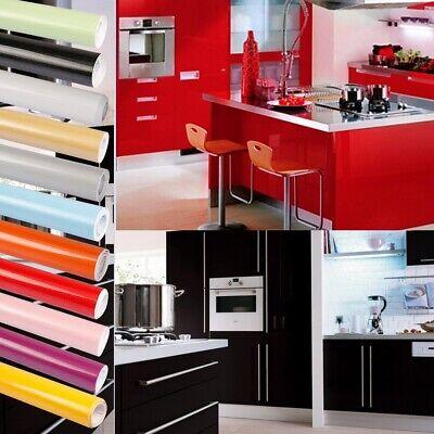 Hochglanz PVC Möbelfolie Klebefolie Küchenfolie Schrankfolie Selbstklebend 5M DE